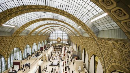 Interior of Musee d'Orsay, Paris, Ile
