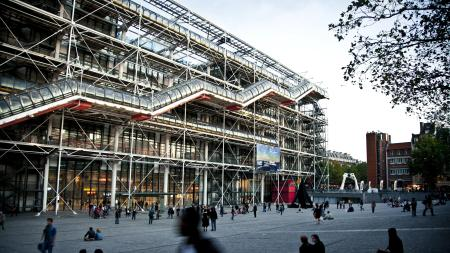The Centre Pompidou in Paris.