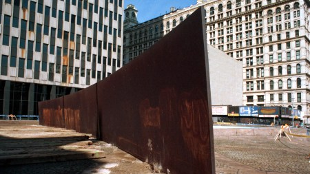 Richard Serra's 'Tilted Arc' was removed