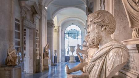 Inside the Musei Capitolini in Rome