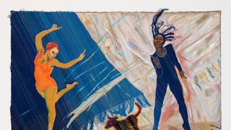 Emma Amos, Black Dog Blues, 1983.