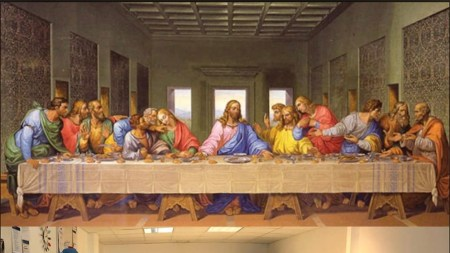 Leonardo da Vinci Last Supper tableau