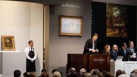 A Sotheby's auction in New York.