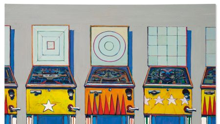 Wayne Thiebaud, 'Four Pinball Machines', 1962.