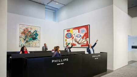 Phillips sale room during the auction