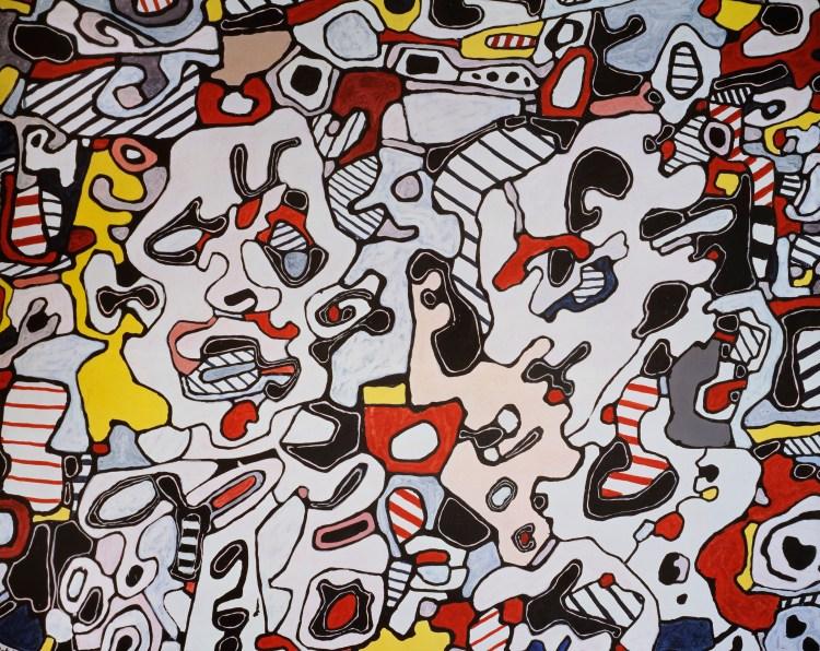 Jean Dubuffet, 'Offres galantes,' 1967, vinyl on canvas