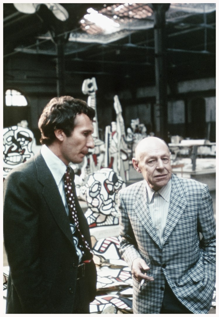 Arne Glimcher and Jean Dubuffet