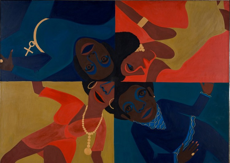 Faith Ringgold, Black Light Series #12: Party Time, 1969.