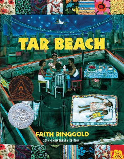 Cover of 25th Anniversary edition of Faith Ringgold's Tar Beach children's book.