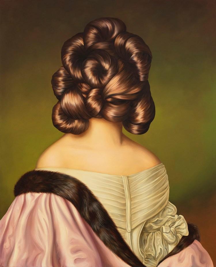 Ewa Juszkiewicz, 'Untitled (after Joseph Karl Stieler),' 2020, oil on canvas, 31 1/2 x 25 5/8 in.