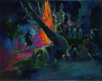 Paul Gauguin's 'Upa Upa (The Fire Dance),' 1891, was among the works on loan.