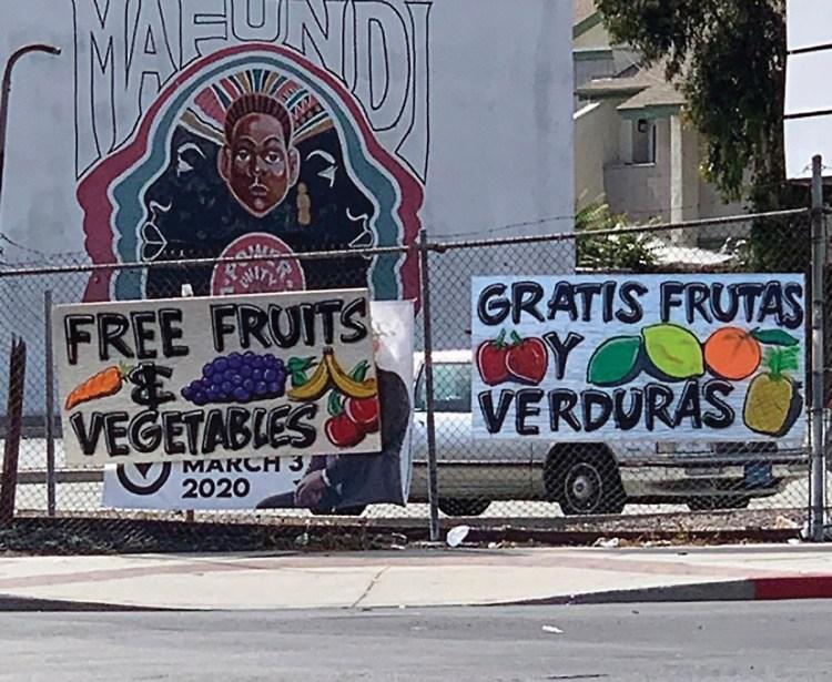 Outside Summaeverythang food distribution program, Watts, June 2020.