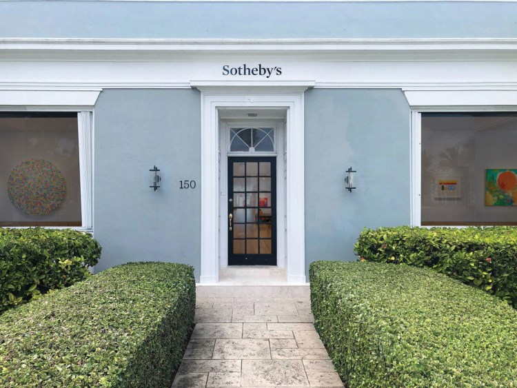 Exterior of Sotheby's Palm Beach showroom.