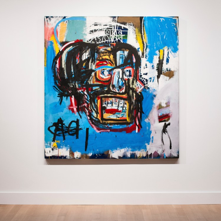 """Jean-Michel Basquiat's 1982 painting """"Untitled"""" which sold for $110.5 million at Sotheby's."""