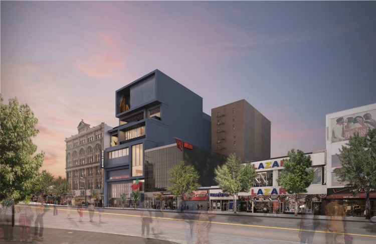 A rendering of the Studio Museum's new building.