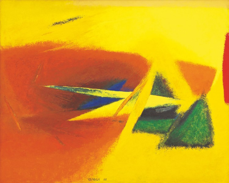 Yoo Youngkuk, 'Work,' 1965. Oil on canvas, 51 x 64 in.