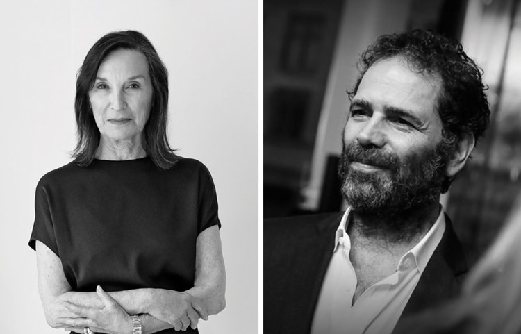 Composite image of portraits of Barbara Gladstone, left, and Gavin Brown.