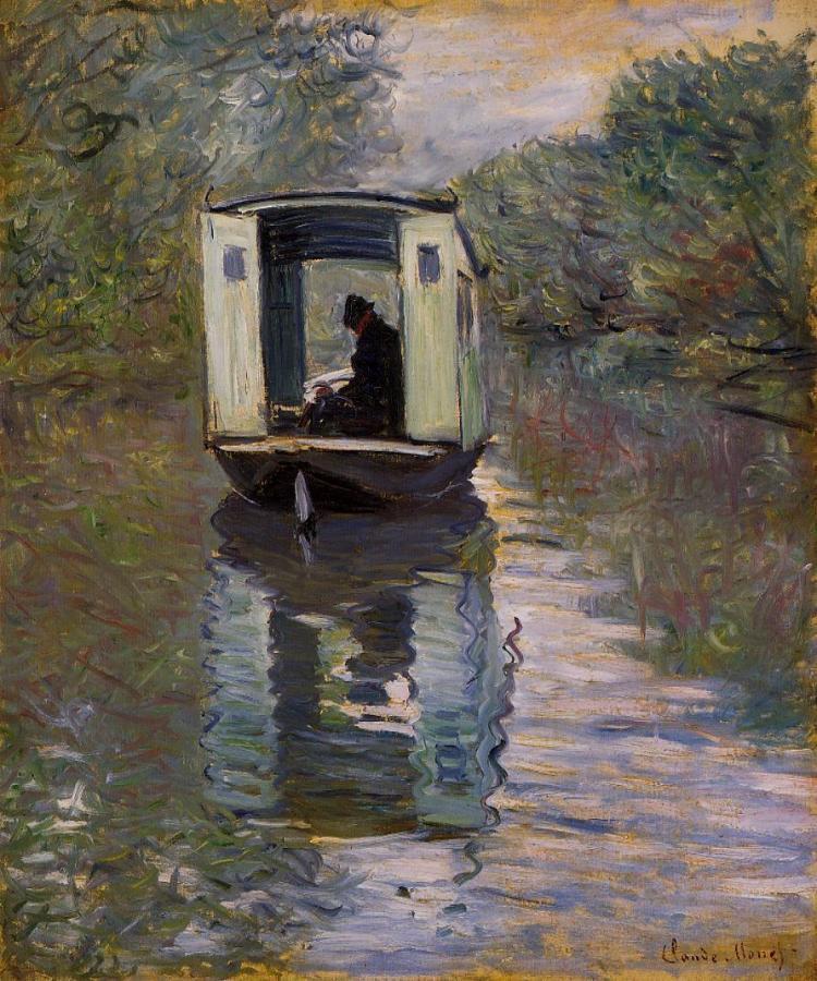 Claude Monet, 'The Studio Boat (Le Bateau-atelier),' 1876, oil on canvas.