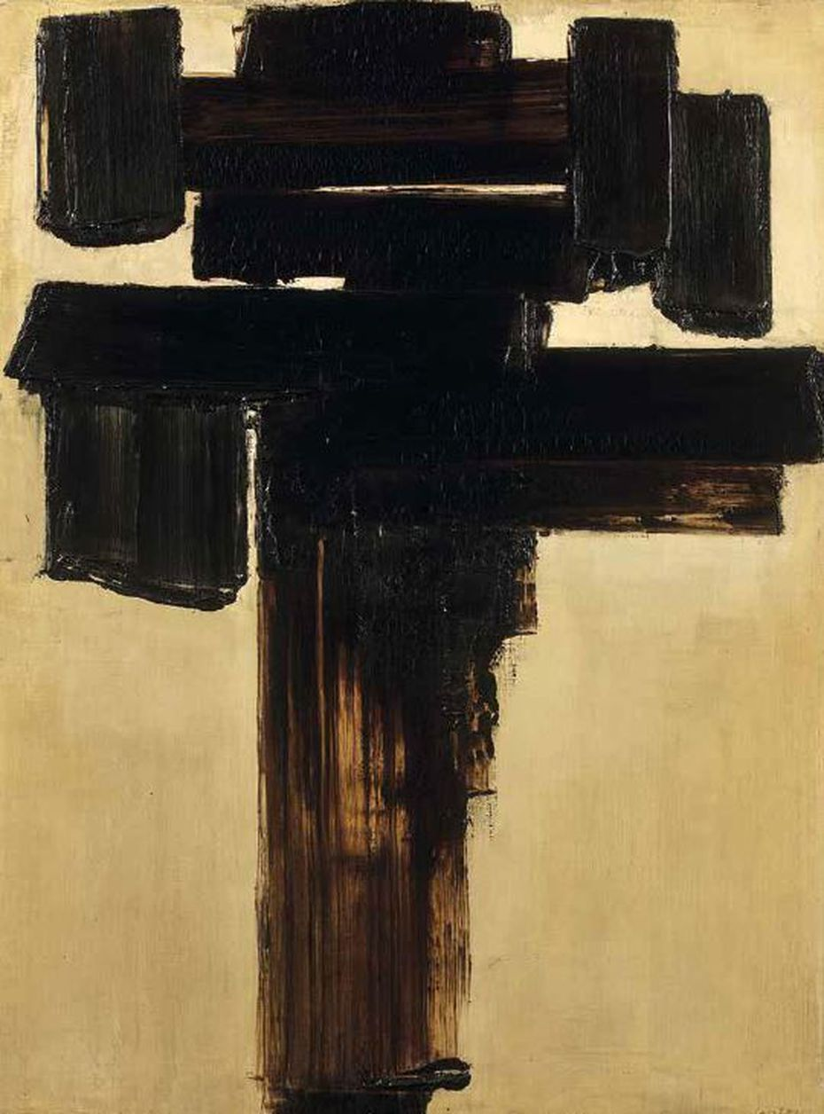 Pierre Soulages, Painting 81 x 60