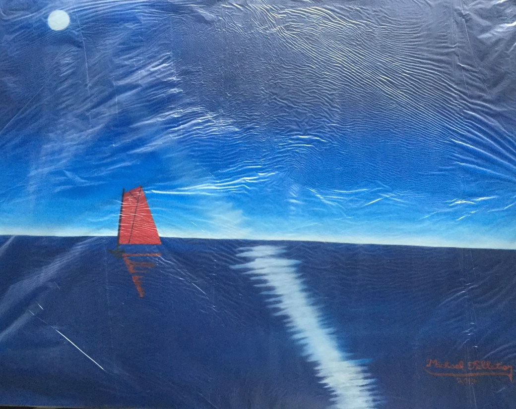 Michael Pelletier painting of sailboat