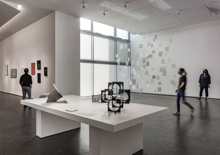Installation view of The MFA Houston's new dedicated galleries for the Latin American art department in the Kinder Building.