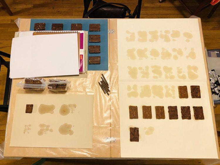 Carmen Argote's RXBAR printing process