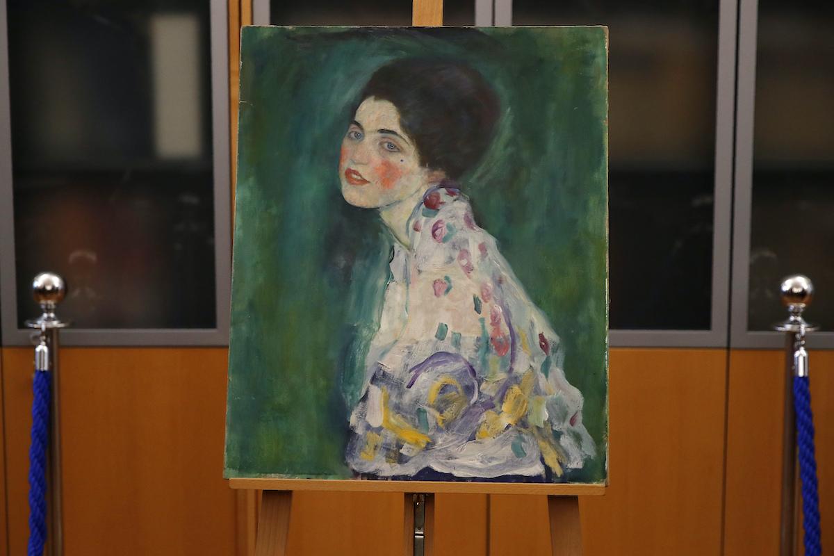 Gustav Klimt's 'Portrait of a Lady.'