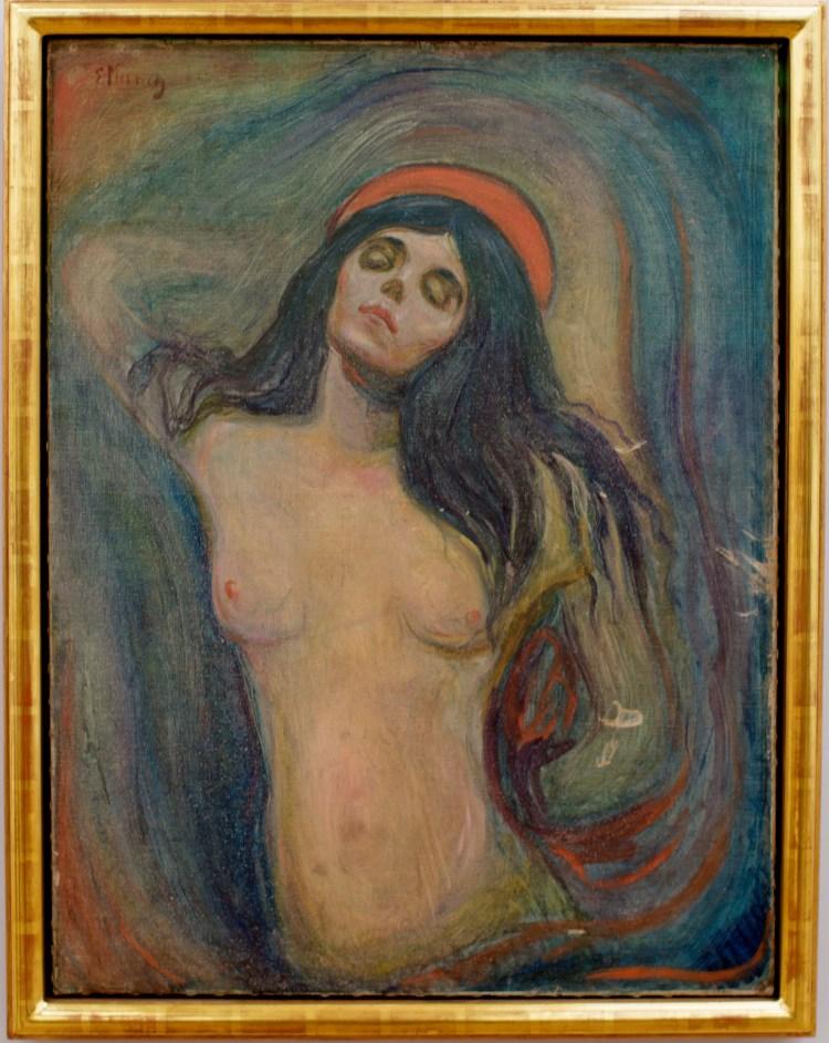 """""""Madonna"""" de Edvard Munch, en una foto del 21 de mayo del 2008, se exhibe en el Museo de Munch en Oslo. (AP Foto/Scanpix Norway, Stian Lysberg Solum, Archivo)"""
