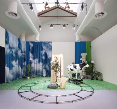 Installation view of Nabuqi's Do real things happen in moments of rationality? (2018), at the 2019 Venice Biennale.
