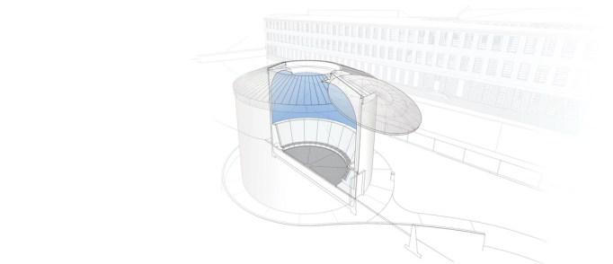 James Turrell Skyspace, estrutura e renderização