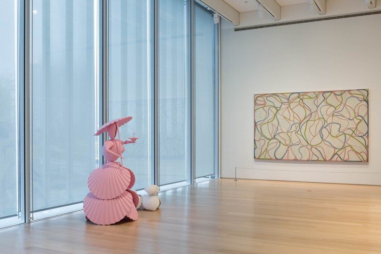 Installation view of works donated by Stefan Edlis to the Art Institute of Chicago