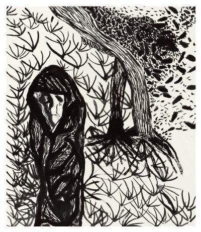 Matthew Wong, 'Winter Wind,' 2016. Ink on rice paper, 31 3/4 x 27 1/8 in.