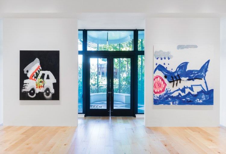 Paintings by Robert Nava on view at the Pace Gallery location in Palm Beach.