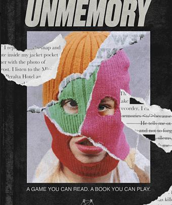 Poster de Unmemory el libro que se juega, el juego que se lee