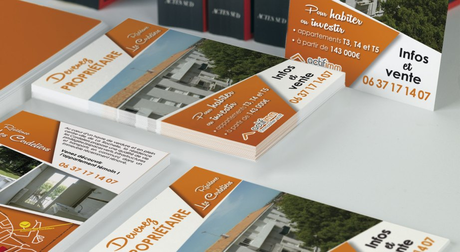 Agence communication Les Herbiers communication visuelle flyer