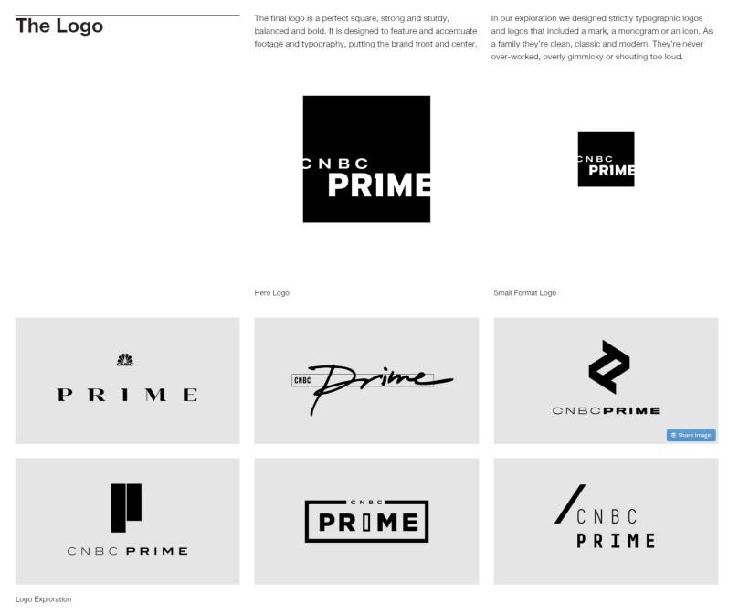 CNBC Prime logo exploration
