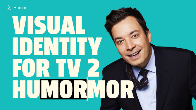 TV2 Humor channel branding by Ant1