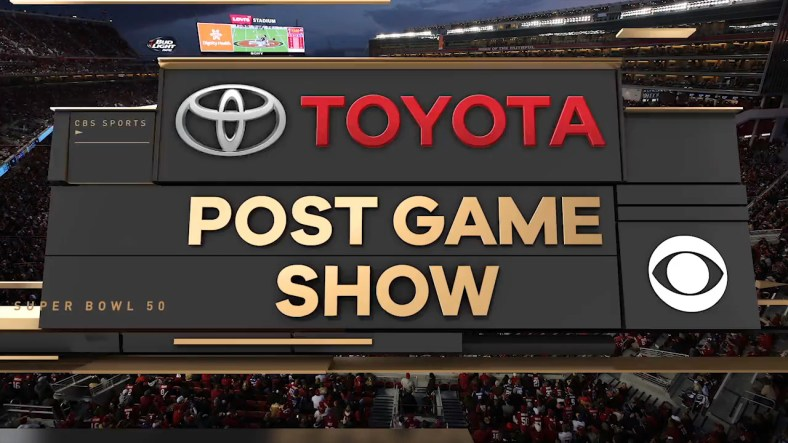toyoto sponsor of Post Game Show on CBS Sports