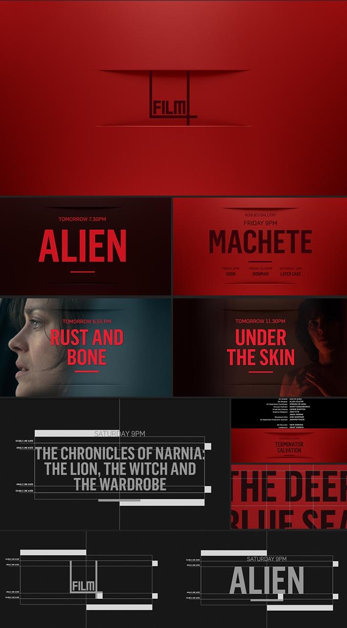 Film4 packaging by Man vs Machine