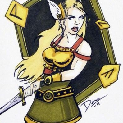 Valkyrie – Sketch Card