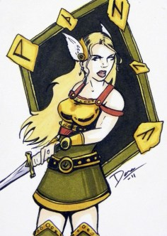 Valkyrie – Sketch Card