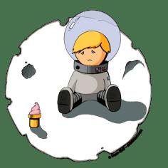 Sad Astronaut Boy