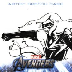 Ms. Marvel Sketchcard