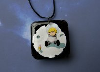 Sad Astronaut Boy Necklace