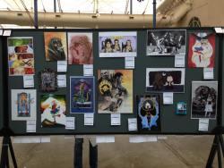 San Diego Comic Con Art Show display 2016