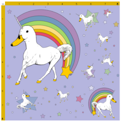 Duckiecorn Fabric Pattern