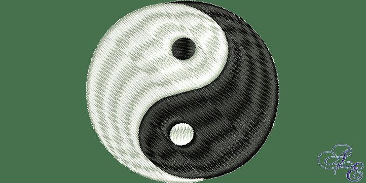 Yin Yang Lotus Flower Machine Embroidery Design