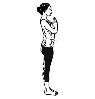 surya namaskar yoga step 1