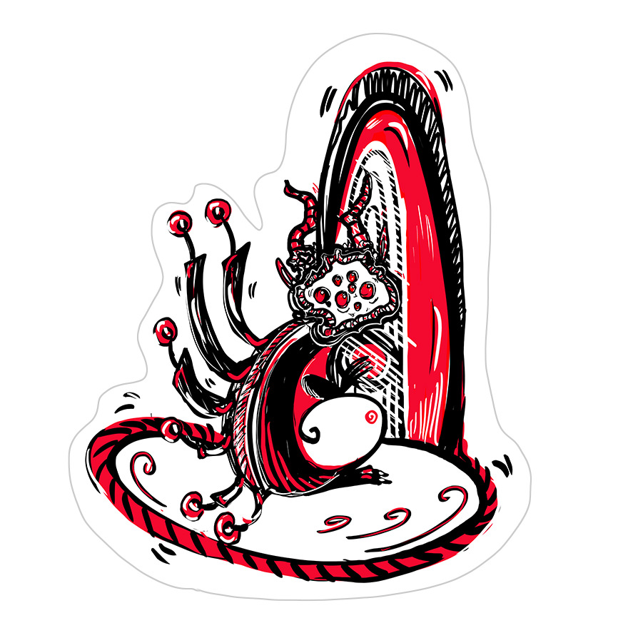 Portal Weirdo Sticker