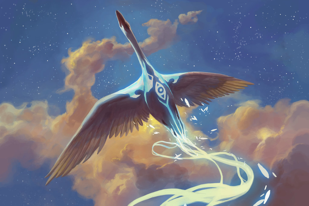 MtG Art Swan Song From Theros Set By Peter Mohrbacher